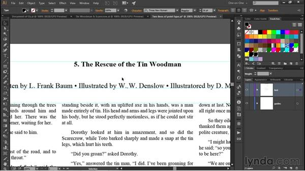 Formatting display text: Illustrator CC 2015 One-on-One: Fundamentals