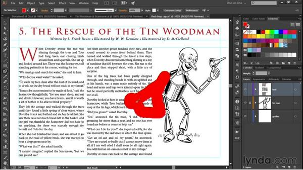Wrapping text around a graphic: Illustrator CC 2015 One-on-One: Fundamentals