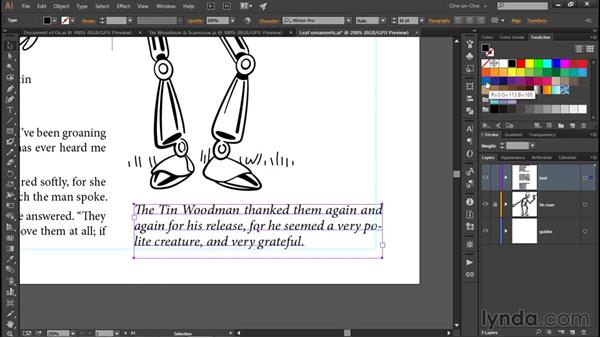 Creating a paragraph style: Illustrator CC 2015 One-on-One: Fundamentals