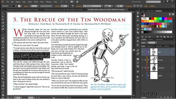 Redefining a paragraph style: Illustrator CC 2015 One-on-One: Fundamentals