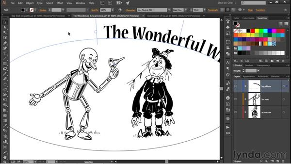 Creating type on a path: Illustrator CC 2015 One-on-One: Fundamentals