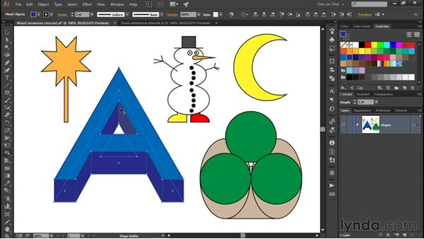 More ways to use the Shape Builder: Illustrator CC 2015 One-on-One: Fundamentals