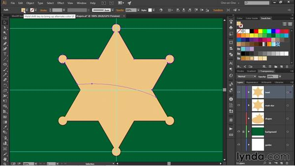 Creating an inset reflection: Illustrator CC 2015 One-on-One: Fundamentals