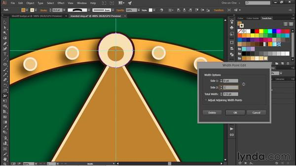 Sculpting with variable-width strokes: Illustrator CC 2015 One-on-One: Fundamentals