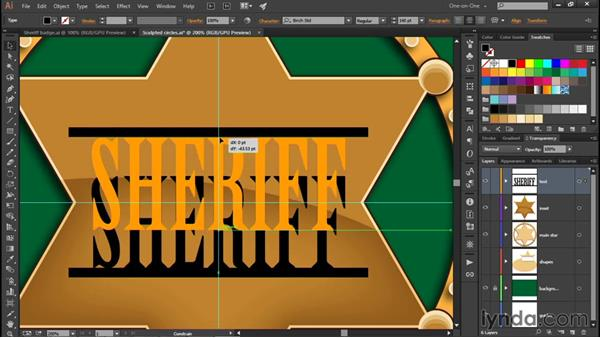 Converting text to path outlines: Illustrator CC 2015 One-on-One: Fundamentals