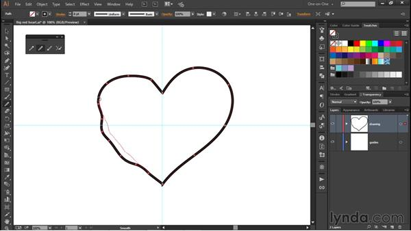 The Smooth tool and Path Eraser: Illustrator CC 2015 One-on-One: Fundamentals