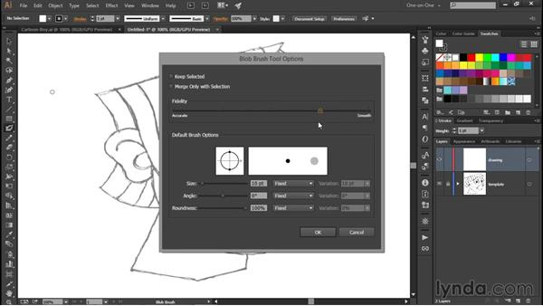 Painting with the Blob Brush: Illustrator CC 2015 One-on-One: Fundamentals