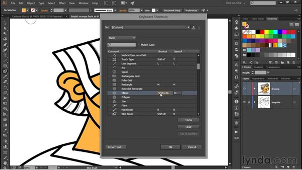 Reassigning keyboard shortcuts: Illustrator CC 2015 One-on-One: Fundamentals