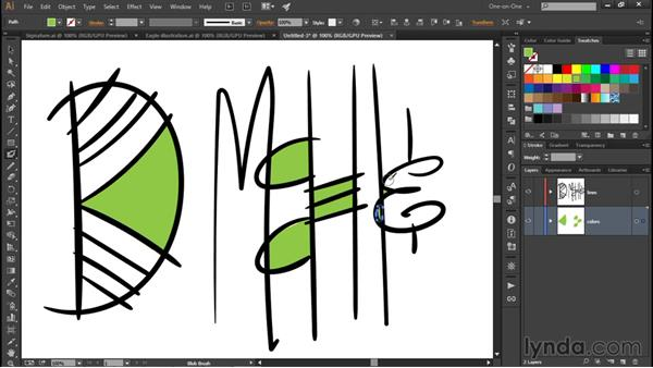Painting with a drawing tablet: Illustrator CC 2015 One-on-One: Fundamentals