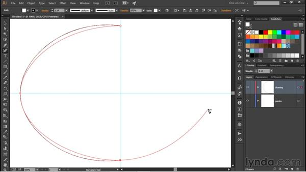 Drawing with the Curvature tool: Illustrator CC 2015 One-on-One: Fundamentals