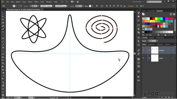 Working with smooth and corner points: Illustrator CC 2015 One-on-One: Fundamentals