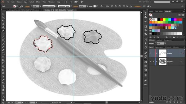 Creating quick smooth shapes: Illustrator CC 2015 One-on-One: Fundamentals