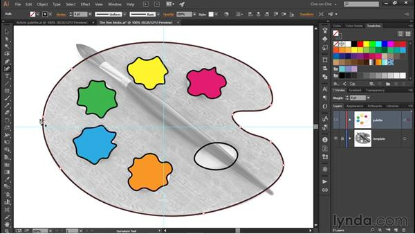 Tracing a custom path outline: Illustrator CC 2015 One-on-One: Fundamentals