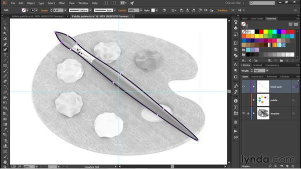 Drawing slender, organic forms: Illustrator CC 2015 One-on-One: Fundamentals