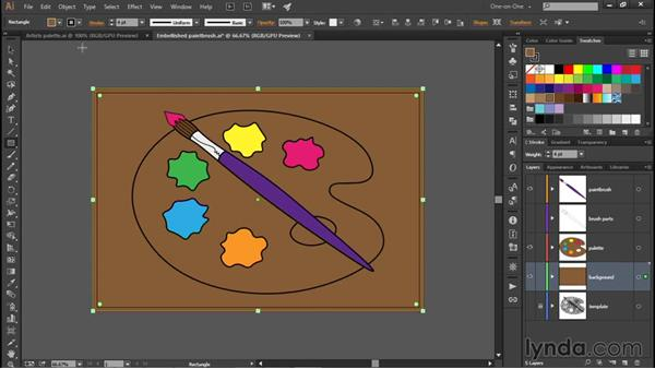 Creating a paint-splattered background: Illustrator CC 2015 One-on-One: Fundamentals