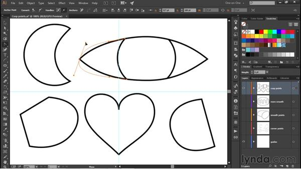 Using the Anchor Point tool: Illustrator CC 2015 One-on-One: Fundamentals