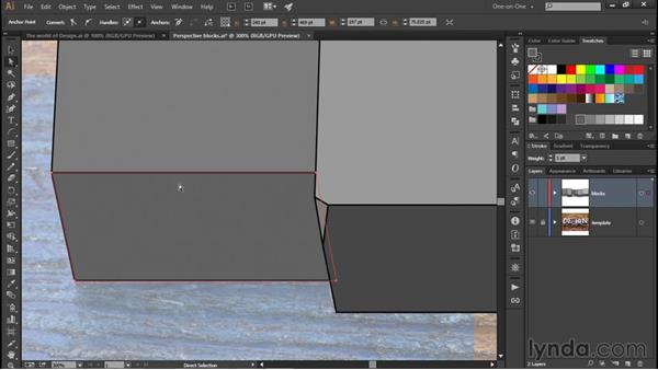 Drawing a few distress marks: Illustrator CC 2015 One-on-One: Fundamentals