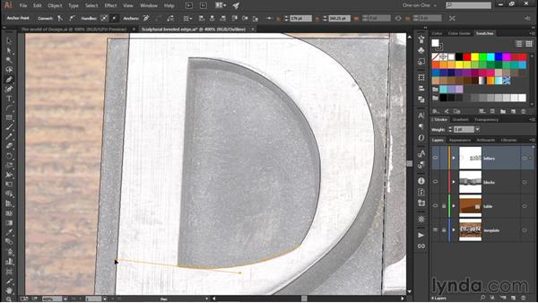 Combining curved and straight segments: Illustrator CC 2015 One-on-One: Fundamentals