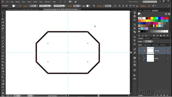 Changing the corner type: Illustrator CC 2015 One-on-One: Fundamentals