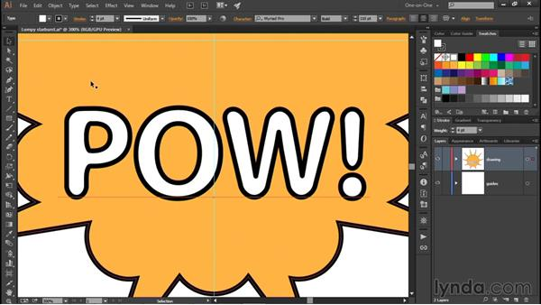 Rounding characters of type: Illustrator CC 2015 One-on-One: Fundamentals