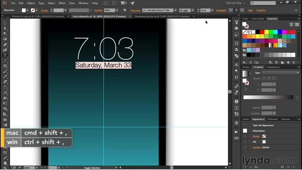 Decorating an iPhone screen: Illustrator CC 2015 One-on-One: Fundamentals