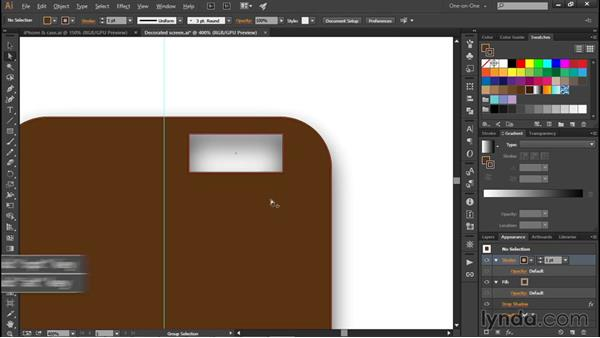 Drawing a leather smartphone case: Illustrator CC 2015 One-on-One: Fundamentals