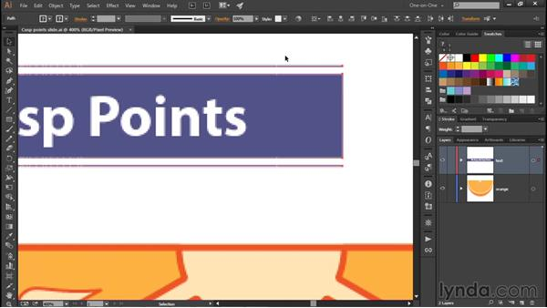 Aligning objects to the pixel grid: Illustrator CC 2015 One-on-One: Fundamentals