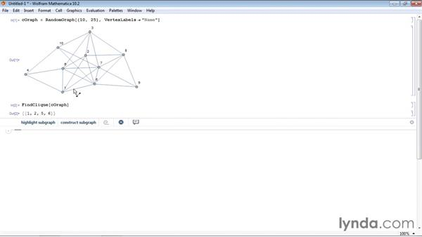 Identifying cliques in a graph: Mathematica 10 Advanced Analysis