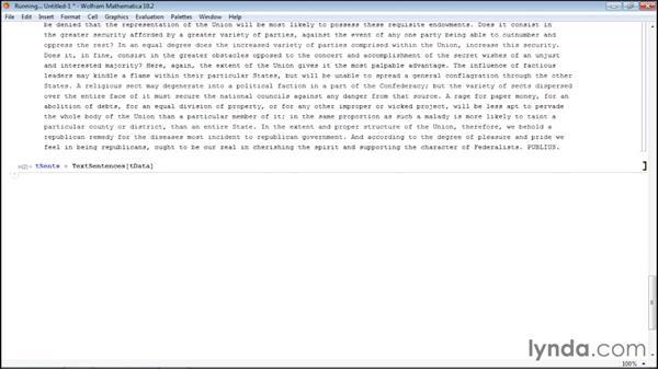 Splitting a text string into words or sentences: Mathematica 10 Advanced Analysis