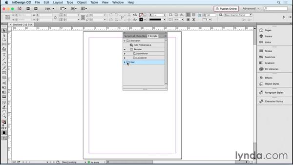 Installing InDesign scripts: Designing Templates with InDesign