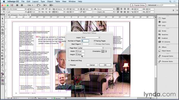 Setting up document intent, page size, bleeds, and slug: Designing Templates with InDesign