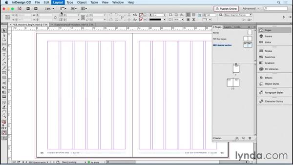 Creating a simple master page strategy: Designing Templates with InDesign