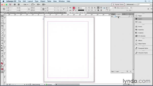 Setting up layers to streamline production: Designing Templates with InDesign