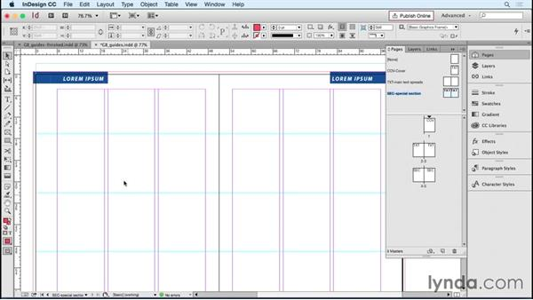 Creating grids and guidelines for accurate layout: Designing Templates with InDesign