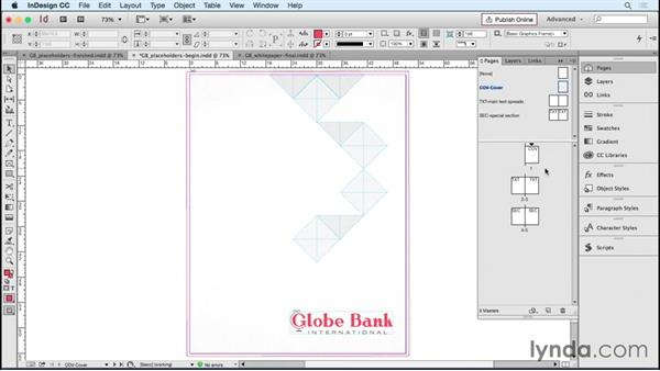 Adding text and image placeholders: Designing Templates with InDesign