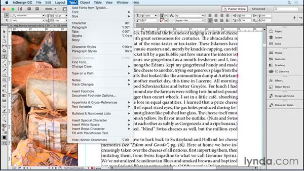 Including other special items for your publication: Designing Templates with InDesign