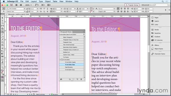 Fixing style overrides with Redefine Style: Designing Templates with InDesign