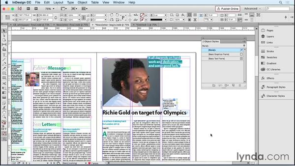 Creating new object styles for common image and text frame issues: Designing Templates with InDesign