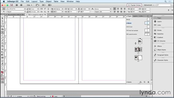 Updating preexisting layouts with template elements: Designing Templates with InDesign