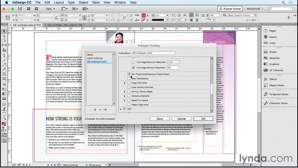 Embedding a custom preflight check: Designing Templates with InDesign