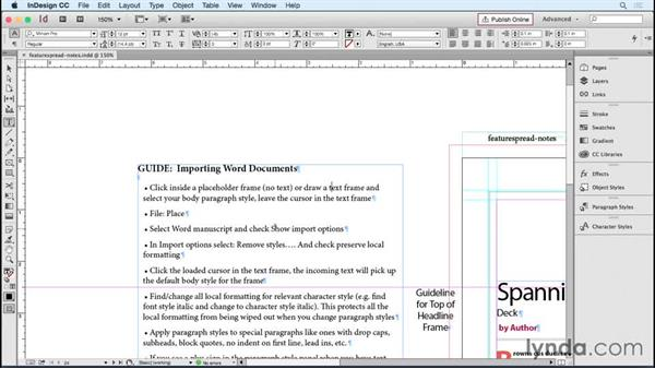 Helping template users with a style guide: Designing Templates with InDesign