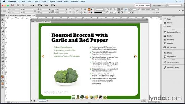 Setting up a template for an interactive layout: Designing Templates with InDesign