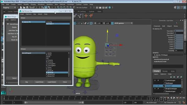 Controlling eyelids: Rigging a Cartoon Character in Maya