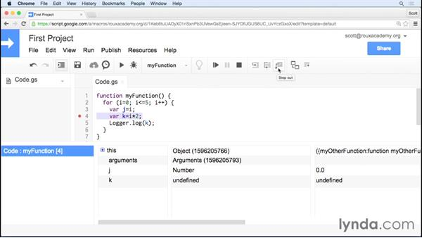 Logging and debugging your app: Up and Running with Google Apps Script