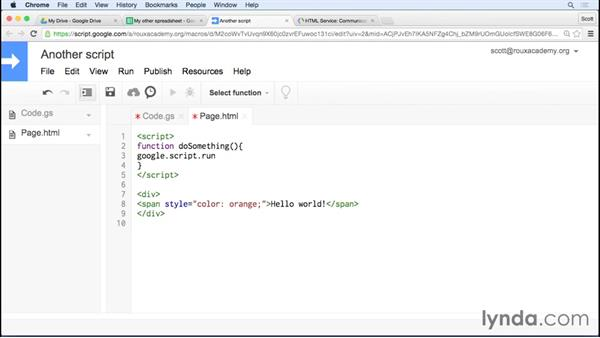 Building dialogs and sidebars: Up and Running with Google Apps Script