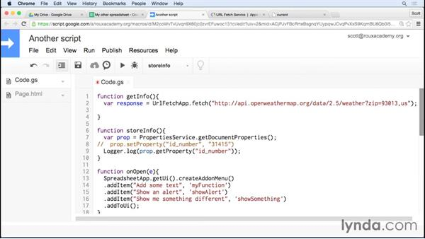 Using external data from an API: Up and Running with Google Apps Script
