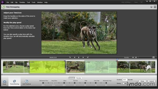 Speeding up or slowing down video segments with Time Remapping: Up and Running with Premiere Elements 14