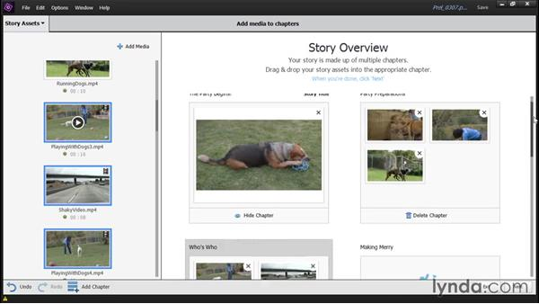 Building a movie with the Video Story tool: Up and Running with Premiere Elements 14