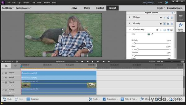 Using the Chroma Key and Videomerge effects: Up and Running with Premiere Elements 14