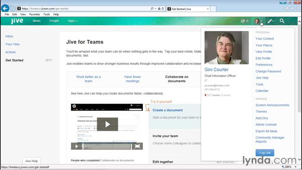 Editing your profile: Up and Running with Jive Administration